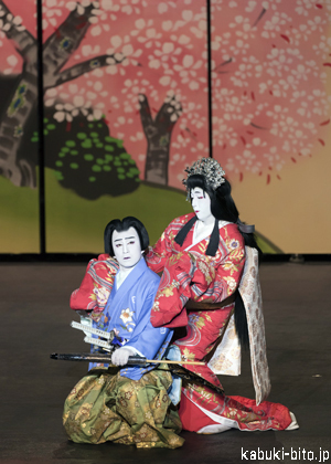 "「KABUKI Spectacle Koi-Tsukami ""Fight with a Carp""」"