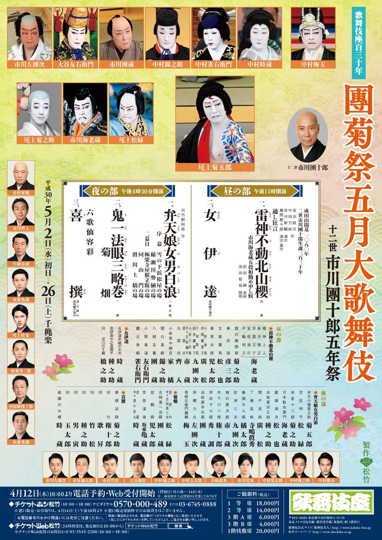團菊祭五月大歌舞伎 | 歌舞伎座 ...