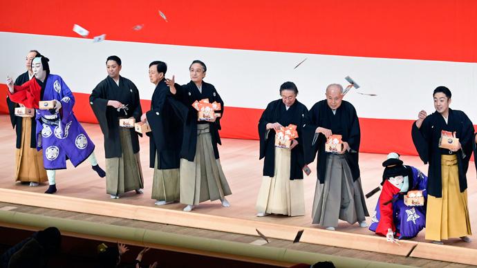 歌舞伎座で平成最後の「節分祭」