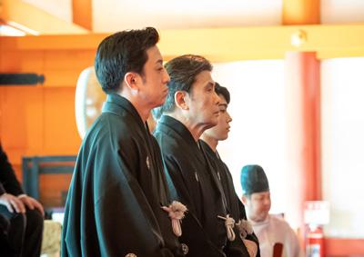 白鸚、幸四郎、染五郎が「當る亥歳 吉例顔見世興行」成功祈願